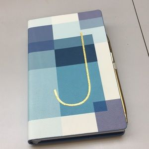 "Anthropologie ""J"" Monogram Leather Notebook"